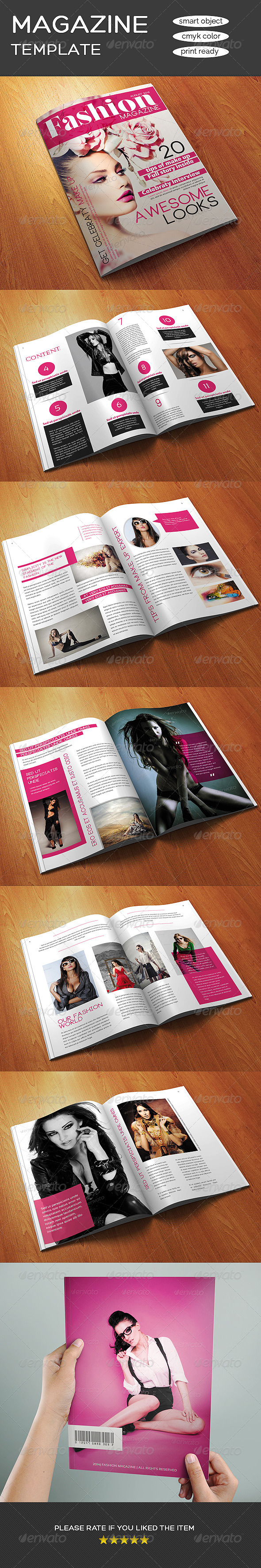 GraphicRiver 12 Pages A4 Size Fashion Magazine Template 8675948