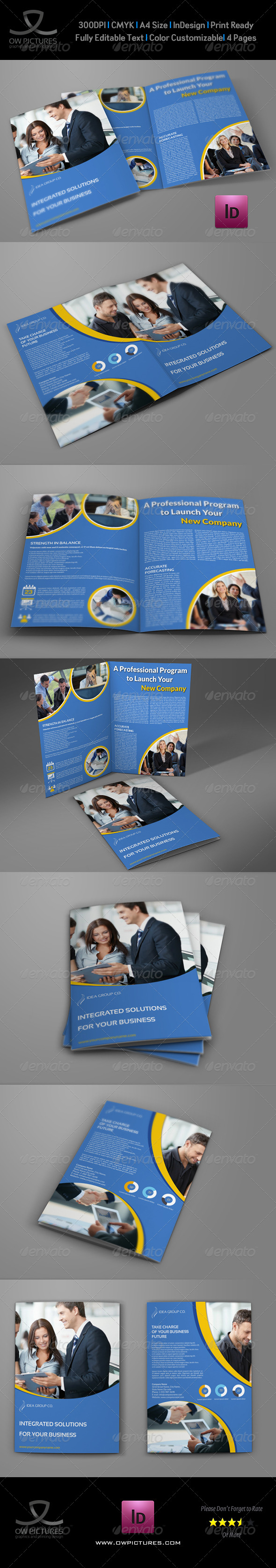 GraphicRiver Company Brochure Bi-Fold Template Vol.29 8675951