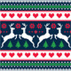 Winter Christmas Seamless Pixelated Pattern  - GraphicRiver Item for Sale