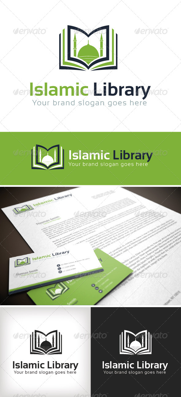 GraphicRiver Islamic Library Logo Template 8676005
