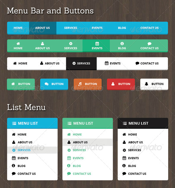 GraphicRiver Neelam Web Menu Bar and Buttons 8676026