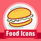 Stylish Food Icons - GraphicRiver Item for Sale