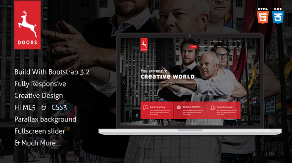 ThemeForest Doors Onepage Corporate Multipurpose Template 8638508