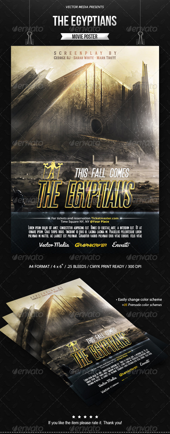 GraphicRiver The Egyptians Movie Poster 8676114
