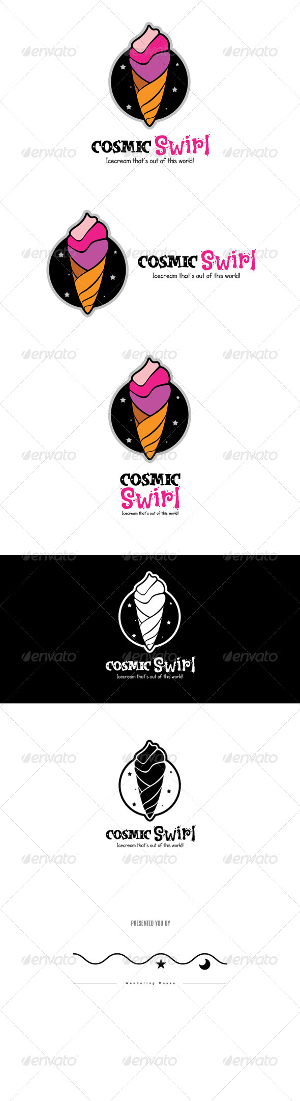 GraphicRiver Cosmic Swirl Logo Template 8676140