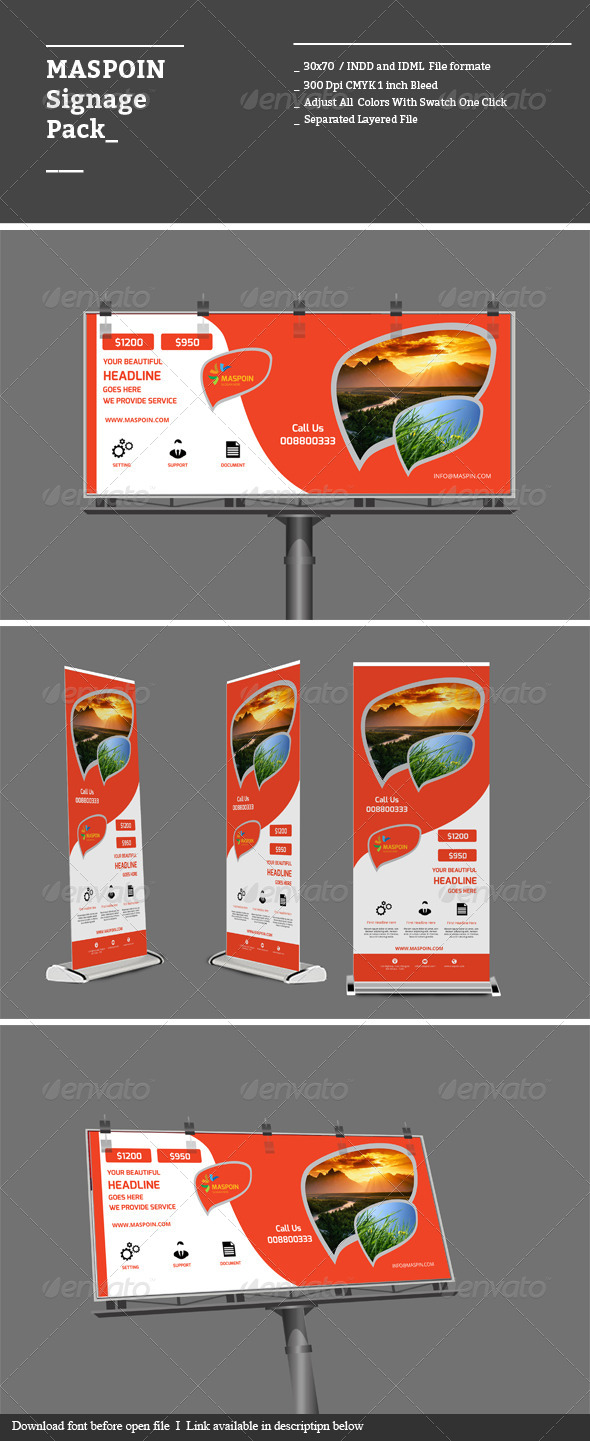 GraphicRiver Maspoin Signage Pack 8676182