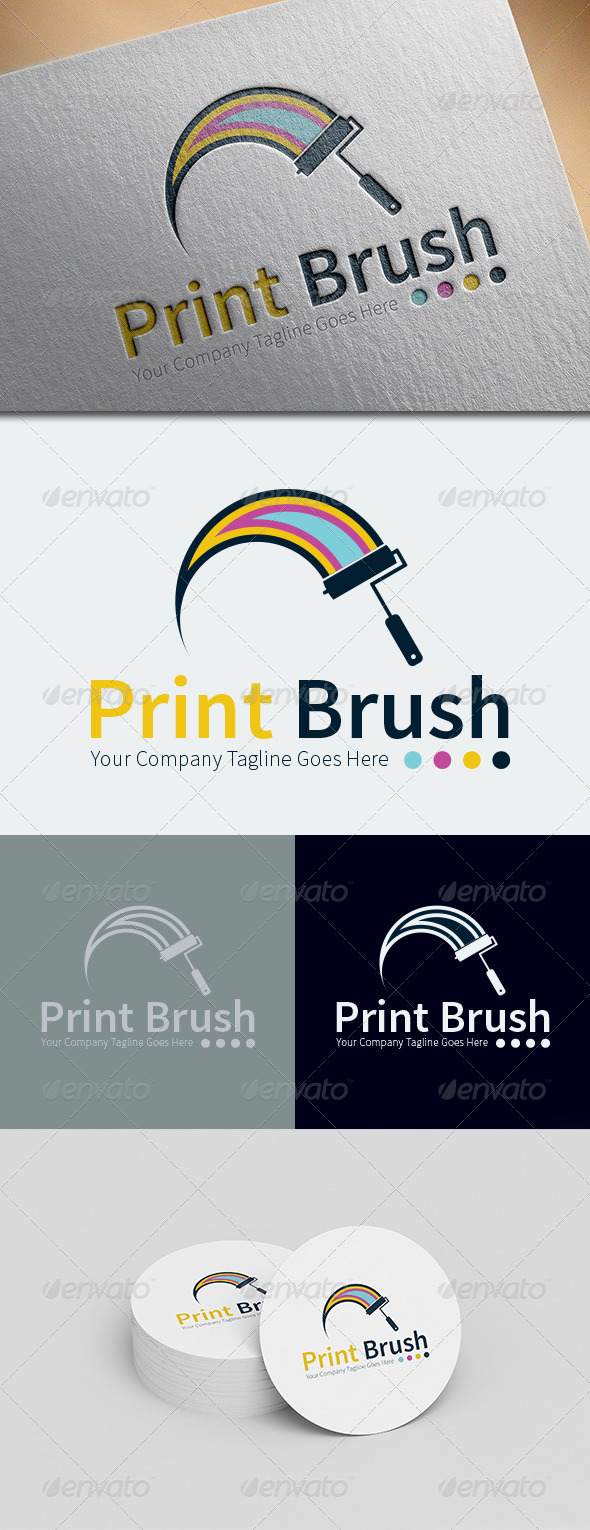 GraphicRiver Print Brush Logo Template 8676189
