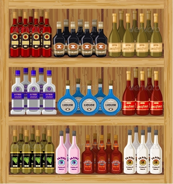GraphicRiver Shop Alcoholic Beverages 8676257