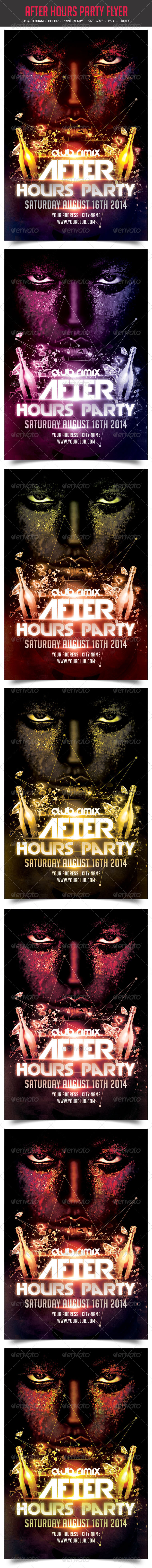 GraphicRiver After Hours Party Flyer 8676258