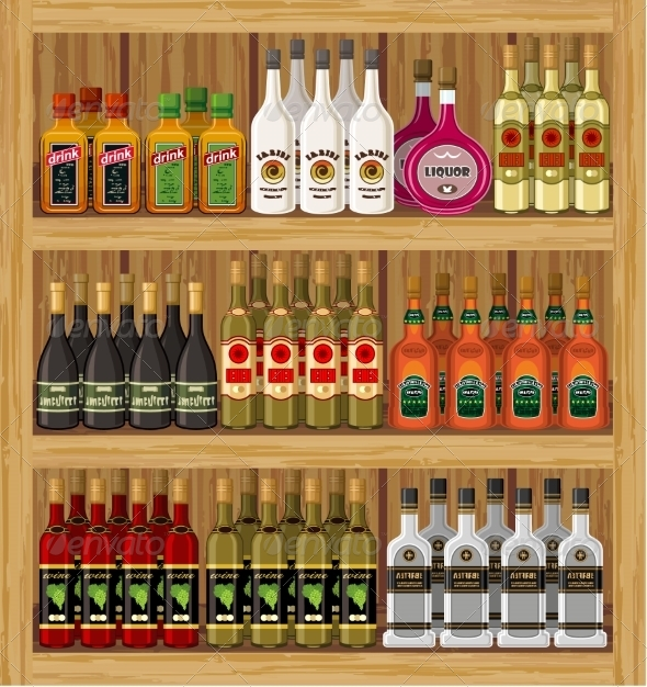 GraphicRiver Shop Alcoholic Beverages 8676259