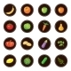 Fruits and Vegetables Set of Icons - GraphicRiver Item for Sale