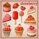 Set of Sweets with Strawberry - GraphicRiver Item for Sale