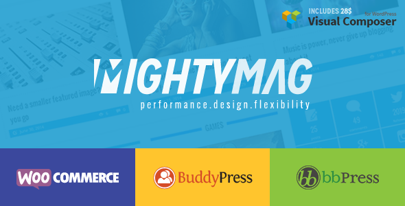 ThemeForest MightyMag Magazine Shop Community WP Theme 8193358