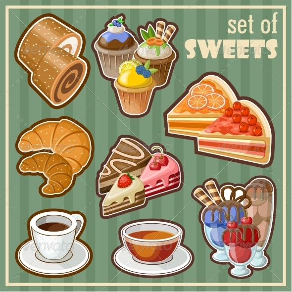 GraphicRiver Set of Sweets 8676319