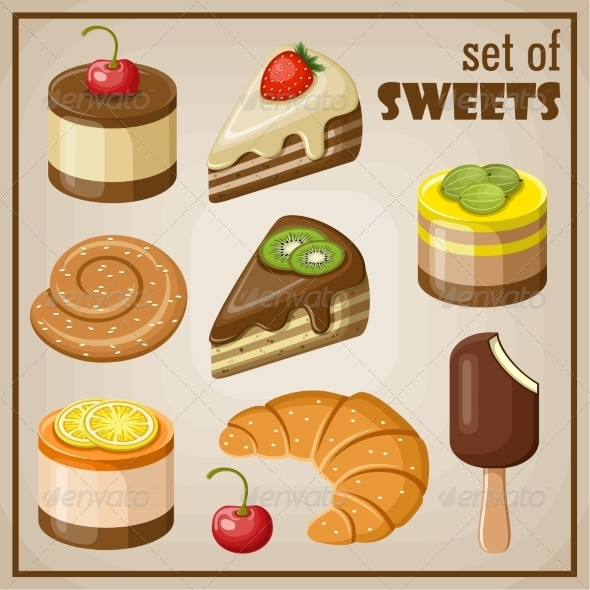GraphicRiver Set of Sweets 8676331