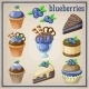 Set of Sweets with Blueberries - GraphicRiver Item for Sale