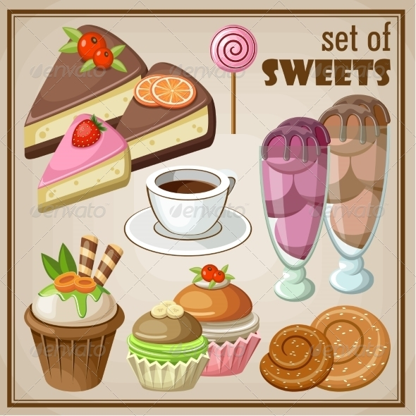 GraphicRiver Set of Sweets 8676335