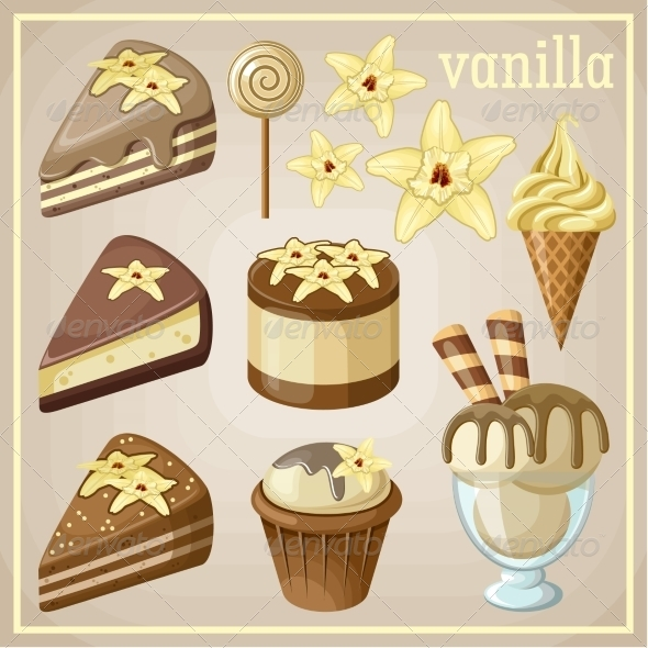 GraphicRiver Set of Vanilla Sweets 8676339