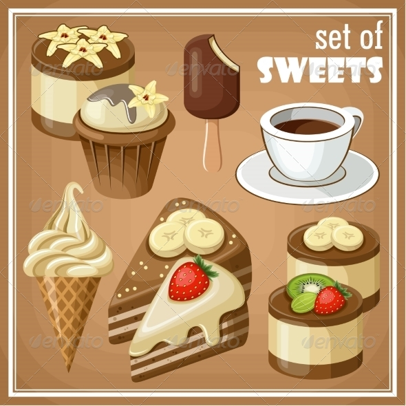 GraphicRiver Set of Sweets 8676344