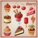 Set of Sweets with Cherry - GraphicRiver Item for Sale