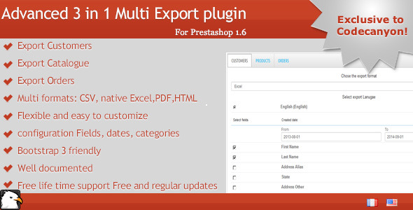 CodeCanyon Prestashop Multi Exporter 8676501