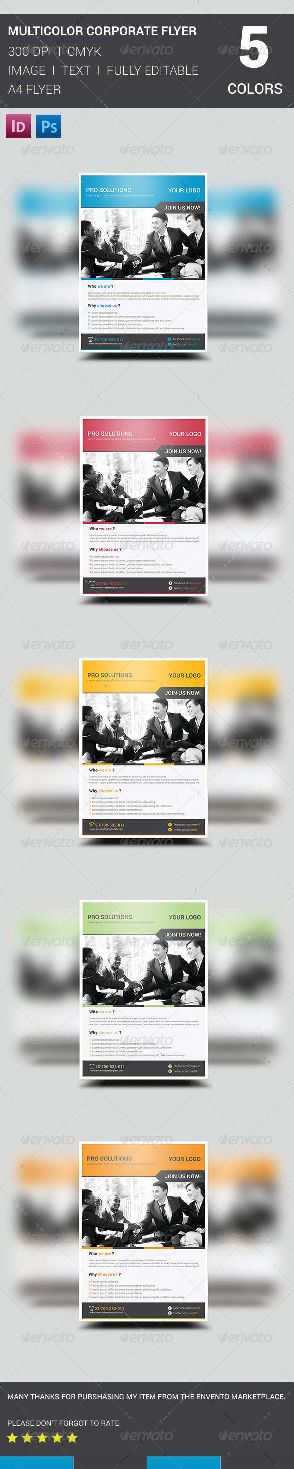 GraphicRiver Multicolor Corporate Flyer 8644612