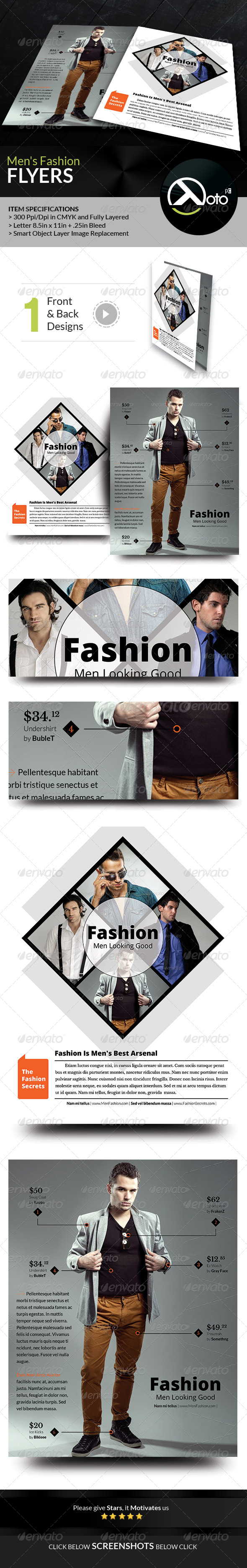 GraphicRiver Men Fashion Style Clothing Flyers 8676520