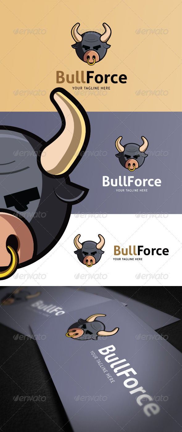 GraphicRiver Bull Force Logo Template 8676524