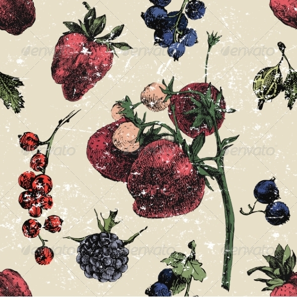 GraphicRiver Seamless Berries 8676532