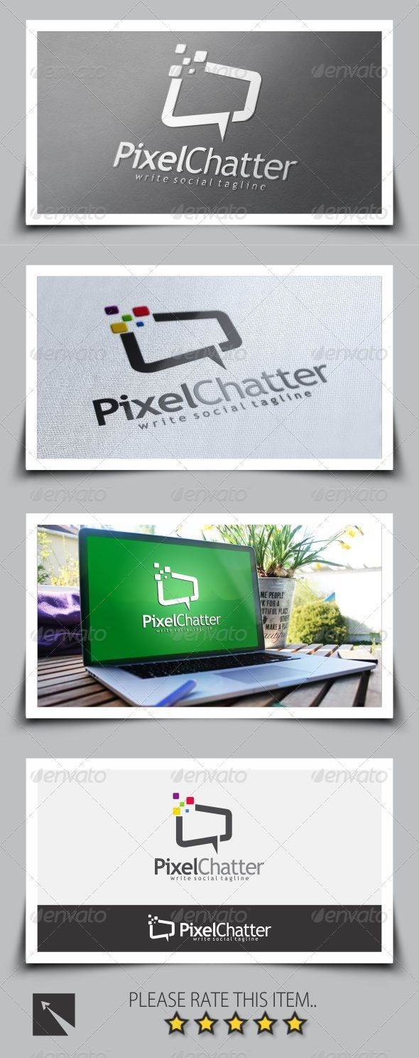 GraphicRiver Pixel Chat Logo Template 8676536