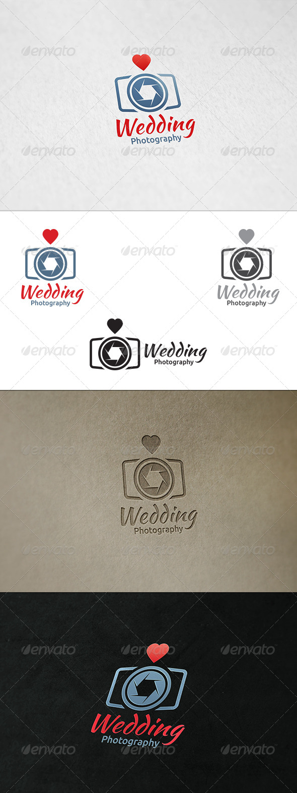GraphicRiver Wedding Photography Logo Templates 8676549