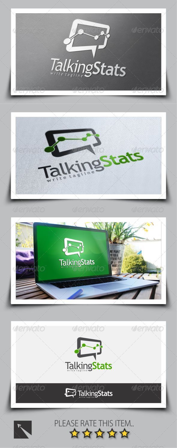 GraphicRiver Talking Stat Logo Template 8676558