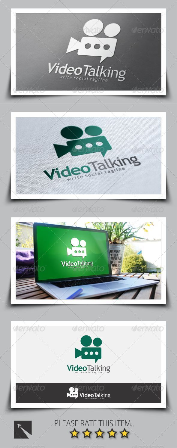 GraphicRiver Video Chat Logo Template 8676575