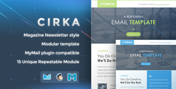 ThemeForest Cirka Responsive Email Template 8676611