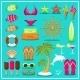 Summer Beach Set - GraphicRiver Item for Sale
