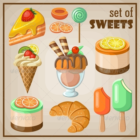GraphicRiver Set of Sweets 8676639