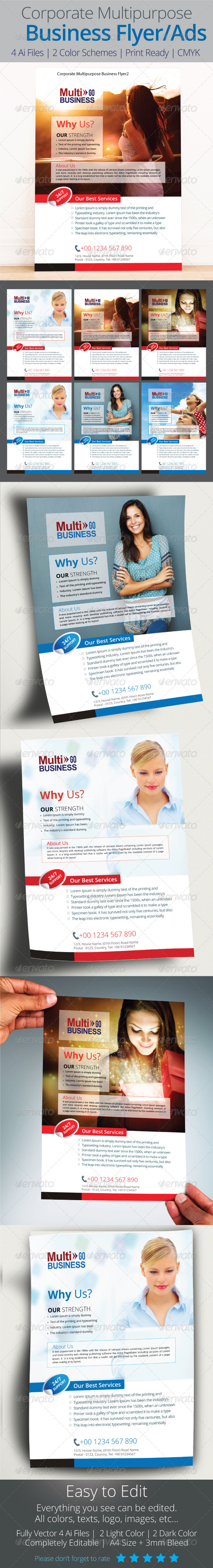 GraphicRiver Corporate Multipurpose Business Flyer 8676640