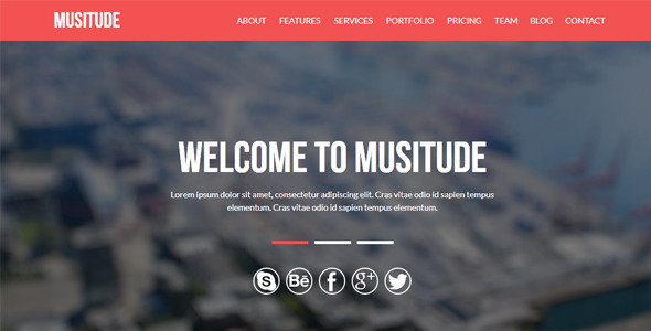 ThemeForest Musitude One Page Parallax Muse Template 8676660