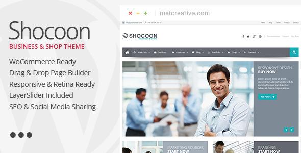Shocoon - Responsive Business & Shop WP Theme