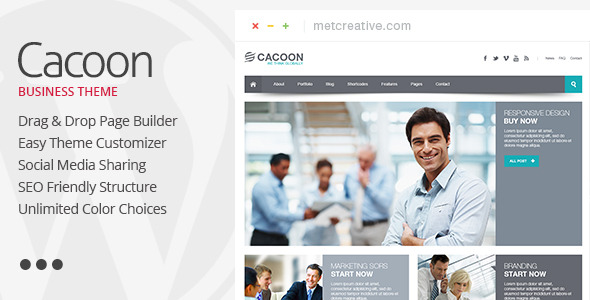 Cacoon - Responsive Business Wordpress Theme