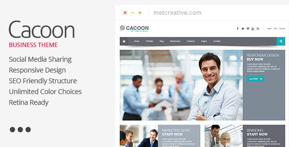 Cacoon - Responsive Business Theme