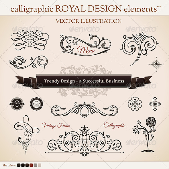 GraphicRiver Calligraphic Design Elements 8619026