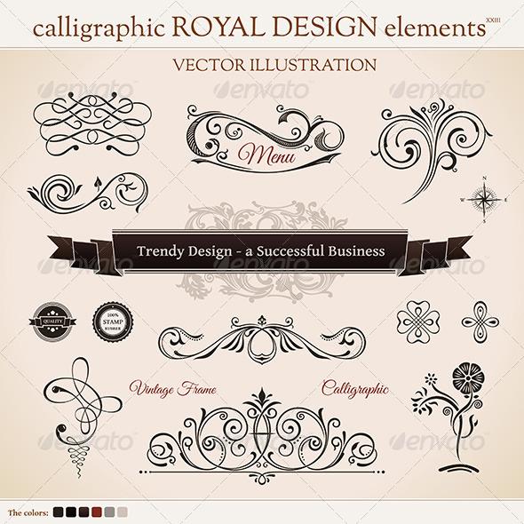 GraphicRiver Calligraphic Design Elements 8619026