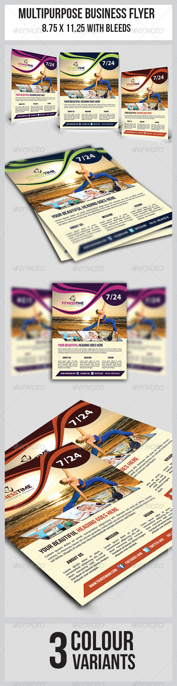 GraphicRiver Fitness Flyer 8676793