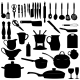 Kitchen Tools Silhouettes - GraphicRiver Item for Sale