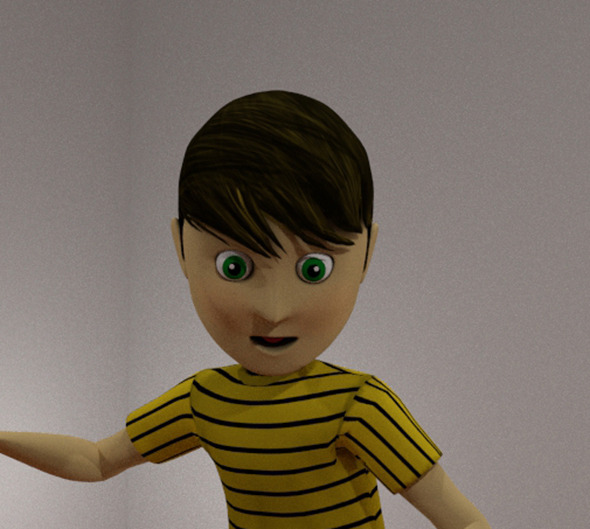 3DOcean cartoon boy rigged 8676993