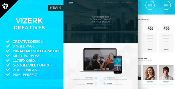 ThemeForest Vizerk Multi-Purpose Parallax Business Theme 8659147