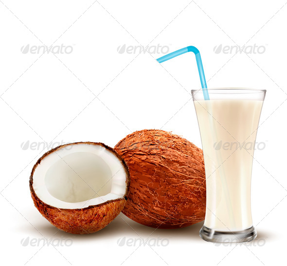 GraphicRiver Coconut with a Coconut Milk Cocktail 8677090