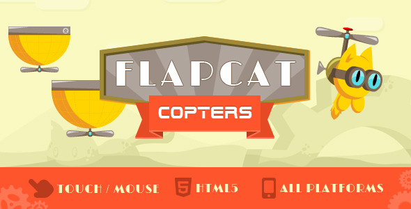 CodeCanyon Game FlapCat Copters 8677093