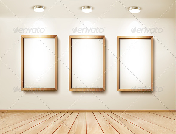 GraphicRiver Background with Frames and Spotlights 8677208